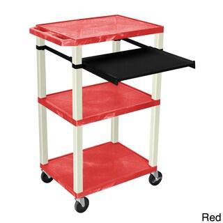 H. Wilson 3 Shelf Open Presentation Cart