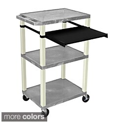 H. Wilson 3 Shelf Open Presentation Cart
