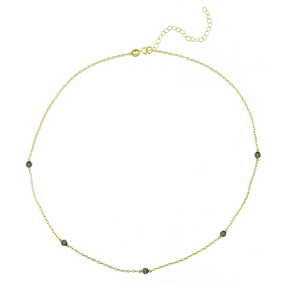 DB Designs 18k Yellow Gold over Silver 1/10ct TDW Black Diamond Necklace