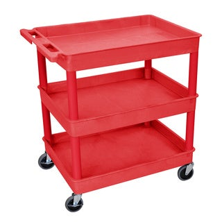 Luxor Red 3 Tub Utility Cart
