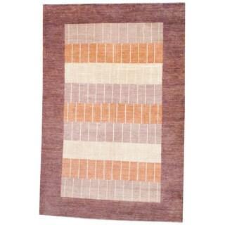 Herat Oriental Afghan Hand-knotted Vegetable Dye Wool Rug (6'4 x 9'8)