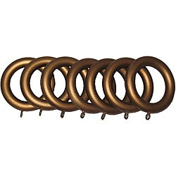 Historical Gold 1 3/8-inch Wood Drapery Rings (Set of 7)