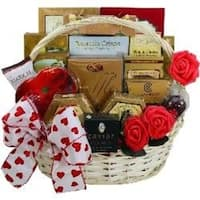 My Gourmet Valentines Day Gift Basket for Him or Her with Caviar, Cheese, Chocolates, Candy and More - my-gourmet-valentine