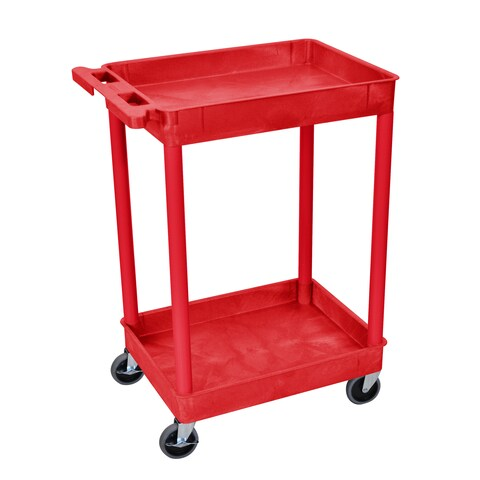 Luxor 2 Shelf Tall Utility Cart
