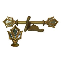 Versailles Historical Gold Wood Curtain Rod Set