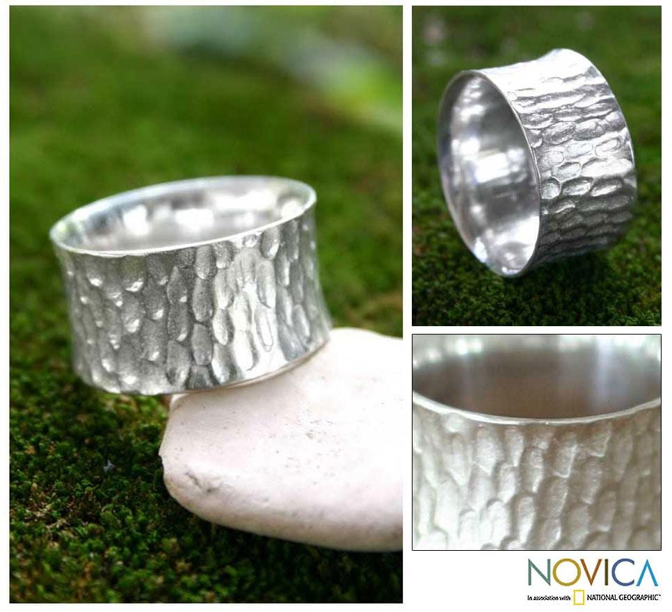 Handmade Sterling Silver Men's 'The Original' Ring (Indonesia)
