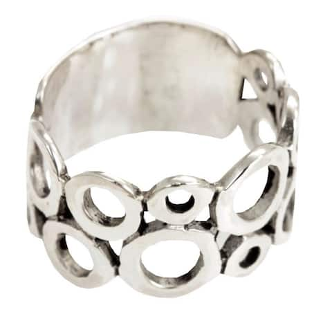 NOVICA Handmade Sterling Silver 'Afternoon' Ring (Indonesia)