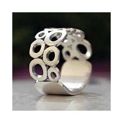 Handmade Sterling Silver 'Afternoon' Ring (Indonesia)