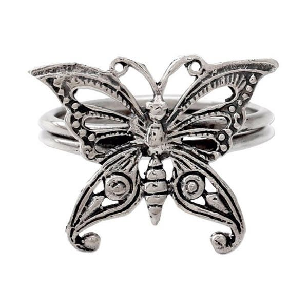 17a69392a3ef0 Handmade Sterling Silver 'Butterfly' Cocktail Ring (India)