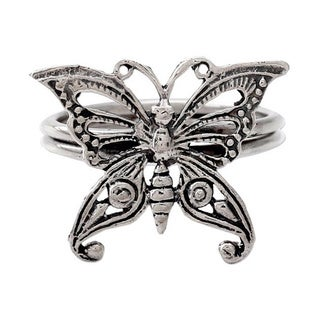 Handmade Sterling Silver 'Butterfly' Cocktail Ring (India)
