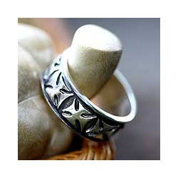 Handmade Sterling Silver Men's 'Positive' Ring (Indonesia)