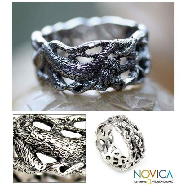 Handmade Sterling Silver Men's 'Monkey Business' Ring (Indonesia)