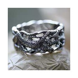 Handmade Sterling Silver Men's 'Monkey Business' Ring (Indonesia)