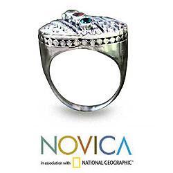 Sterling Silver  'Regal' Multi-gemstone Ring  (Indonesia)