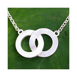 Infinity Love Symbol Brushed 925 Sterling Silver on Adjustable Cable Chain Contemporary Womens Pendant Necklace (Thailand)