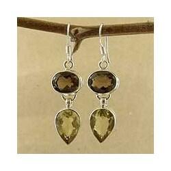 Sterling Silver 'Jaipur Fortunes' Multi-gemstone Earrings (India)