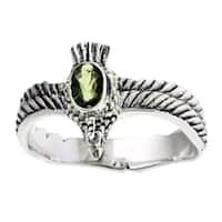 Handmade Sterling Silver Men's 'Peace Messenger' Peridot Ring (Indonesia)