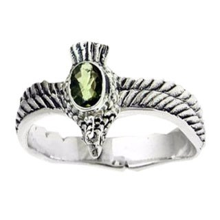 Handmade Sterling Silver Men's 'Peace Messenger' Peridot Ring (Indonesia)