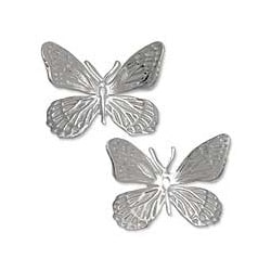 Sterling Silver 'Monarch Butterfly' Button 23mm Earrings (Mexico)