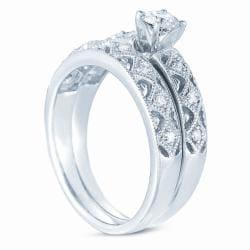 10k White Gold 1/2ct TDW Diamond Wedding Ring Set (H-I, I1-I2) - Thumbnail 1