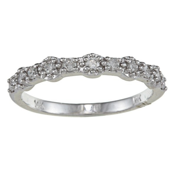 Victoria Kay 14k White Gold 1/4ct TDW Diamond Stackable Band