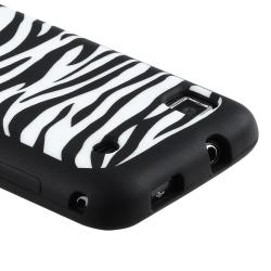 INSTEN Black/ White Zebra Soft Silicone Skin Phone Case Cover for Samsung i9000 Galaxy S/ T959