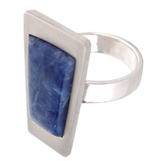 Handmade Silver 'Gate to the Sky' Sodalite Ring (Peru)