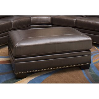 Abbyson Oxford Italian Leather Ottoman