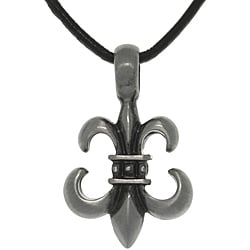 Carolina Glamour Collection Pewter Unisex Fleur De Lis Necklace