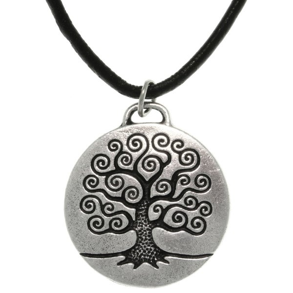 Antiqued-pewter 'Tree of Life' Celtic-style Pendant Necklace