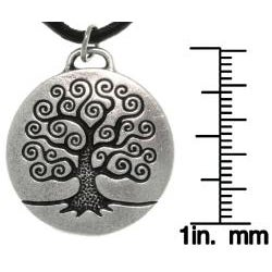 Carolina Glamour Collection Antiqued-pewter 'Tree of Life' Celtic-style Pendant Necklace - Thumbnail 2