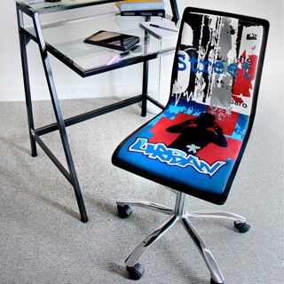 Printed Graffiti Urban Computer Chair - Black/Blue/Red/White