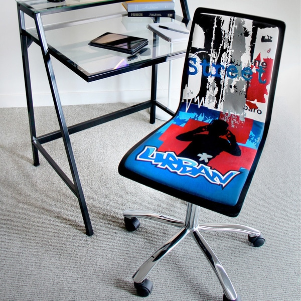 Printed Graffiti Urban Computer Chair