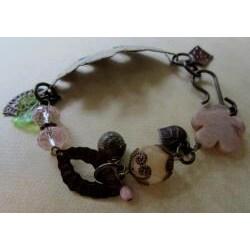 Vintage 'Leaf Medley' Gemstone Bracelet