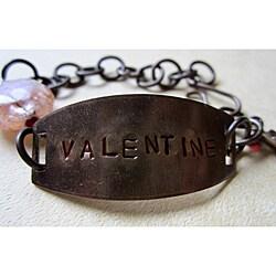 Vintage Brass 'Valentine' Bracelet
