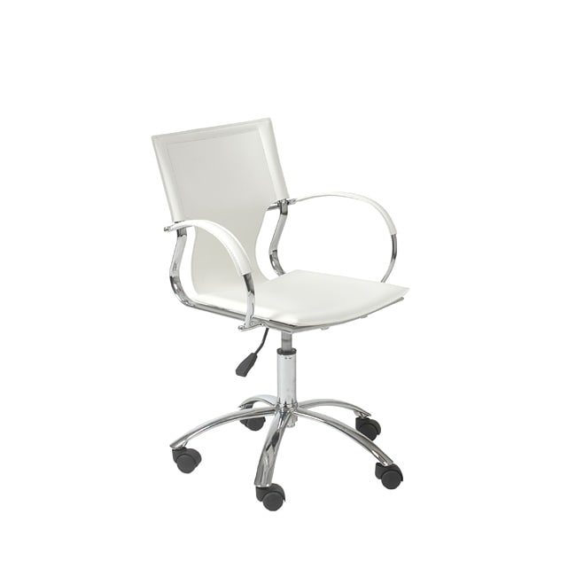Vinnie White/Chrome Office Chair