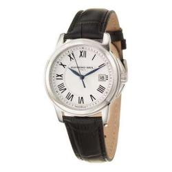 Raymond Weil Men's Traditional Black Leather Watch
