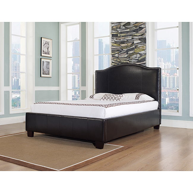 Venice-X Eastern King-size Chocolate Leather Bed
