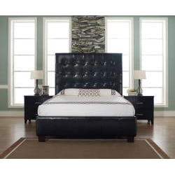 Malibu-X Eastern Chocolate Leather King-size Platform Bed - Thumbnail 1