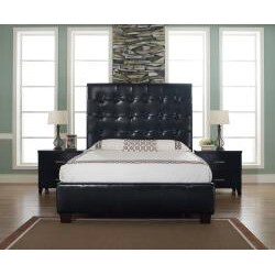 Malibu-X Eastern Chocolate Leather King-size Bed - Thumbnail 1
