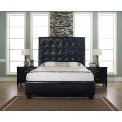Malibu-X Chocolate Bonded Leather California King-size Bed