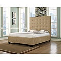 Malibu-X Almond Fabric Queen-size Bed