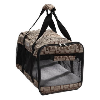 Pet Life Airline Approved 'Ultra-Comfort' Designer Dog Carrier, Color: Plaid Design, Size: Medium