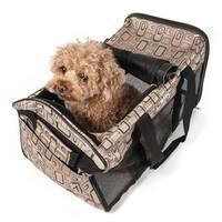 Pet Life Airline Approved 'Ultra-Comfort' Designer Dog Carrier, Color: Plaid Design, Size: Medium - One size