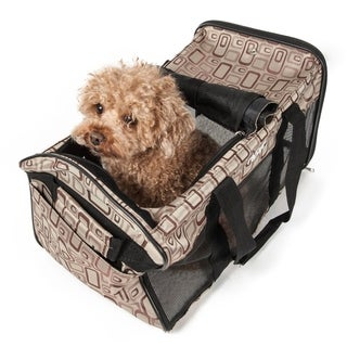 Pet Life Airline Approved 'Ultra-Comfort' Designer Dog Carrier, Color: Plaid Design, Size: Medium - One size