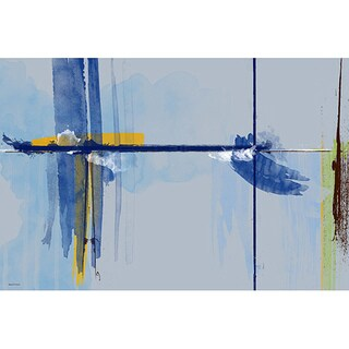Maxwell Dickson 'The Horizon' Modern Abstract Canvas Art