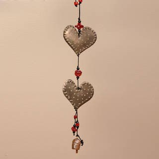 Handmade Iron and Glass Double Dotted Hearts Hanging Art (India) https://ak1.ostkcdn.com/images/products/6477808/P14071739.jpg?impolicy=medium