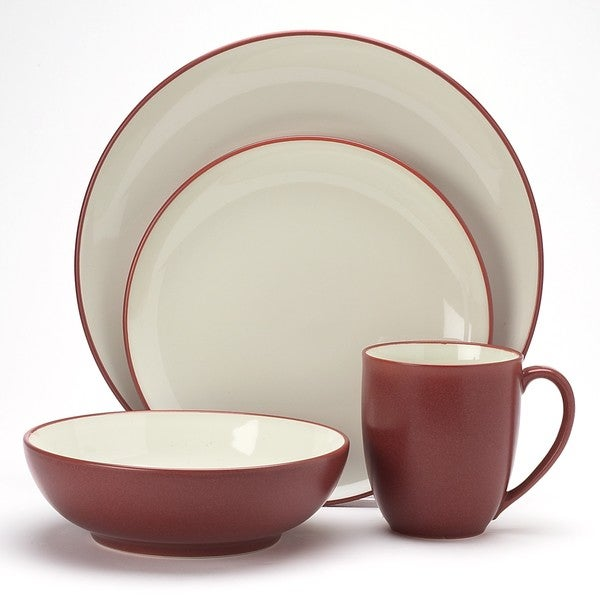 Noritake Colorware Raspberry Coupe 16 piece Dinnerware Set