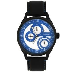August Steiner Men's Stainless Steel Multifunction Leather Blue Watch - Thumbnail 1