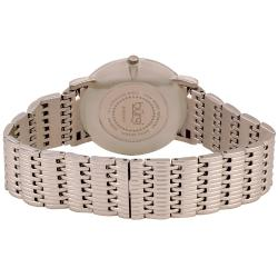 Burgi Women's Swiss Quartz Diamond Silvertone Bracelet Watch